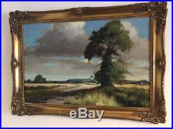 Large vintage gilt framed signed original oil painting
