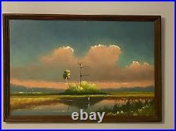 Lem Newton, Oil on Upson Board, Vintage Highwaymen Painting