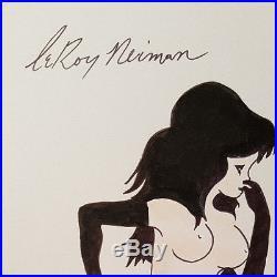 Leroy Neiman, Original, Vintage, femlin, Original Painting Drawing, Signed Art