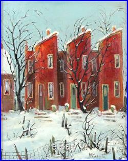 Lillian Jean McGeoch (19031992) Vintage 50's Canadian Oil/B Toronto Streetscape