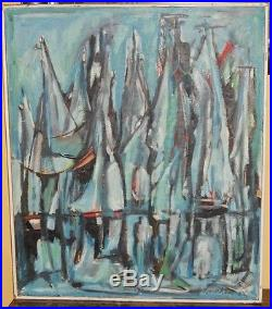 Listed Artist Leonard Lieb (1912 1977) American Signed Vintage Oil Painting