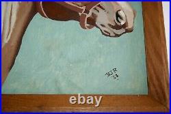 Lovely Vintage Original Signed Horse Painting Estate Find 1953