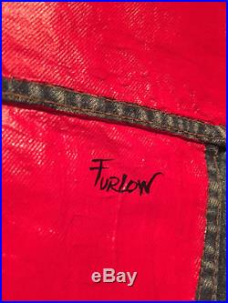 MALCOLM FURLOW Original Acrylic Painting on Vintage Jean Jacket Signed