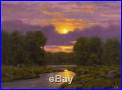 MAX COLE Oil Painting Original signed Landscape Antique Vintage American art 430
