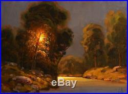 MAX COLE original oil painting landscape signed antique vintage impressionist 96