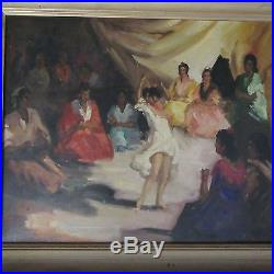 MID Century Impressionist Painting Dancer Spanish Vintage 1950's Signed