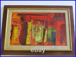 MID Century Modern Painting Abstract Expressionism Vintage 1950's Mystery Artist