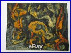 MID Century Painting Abstract Expressionism Large Non Objective Unsigned Vintage