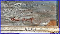 MONET beautiful vintage rare art painting hand signed No print