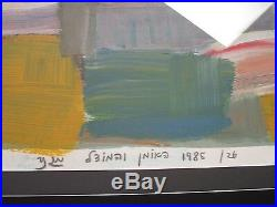 MYSTERY ARTIST SIGNED ABSTRACT EXPRESSIONIST PAINTING MODERNISM vintage 1980's