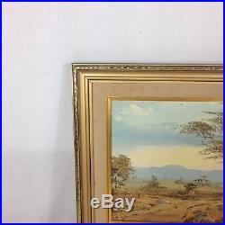 M Le Granger Signed Vintage South African Landscape Oil On Board