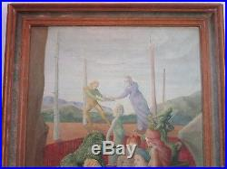 Malcolm Nall 1989 Signed Painting Surrealism Expressionism Vintage Abstract