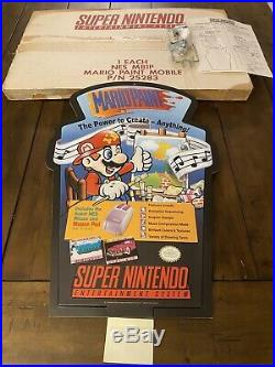 Mario Paint Collector 1992 Vintage Signage Store Display Snes Sign