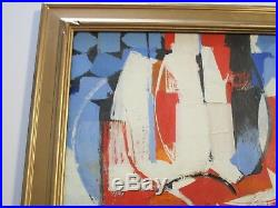 Masterful Painting Abstract Expressionism Signed Non Objective 1950's Vintage