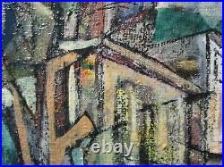 Masterful Painting Cubist Cubism Modernism Abstract Landscape City Vintage St