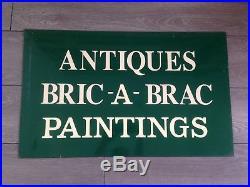 Metal Antiques Bric A Brac Paintings Shop Sign Vintage Dealer Junk Second Hand