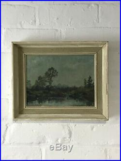 Mid Century Oil On Board Signed Pamela Russell Vintage Antique Painting Art