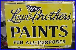 Mint Vintage Original Lowe Brothers Paints Porcelain Sign No Reserve
