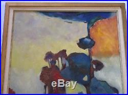 Moreno Painting Vintage Abstract Expressionism Colorful Eucalyptus Landscape
