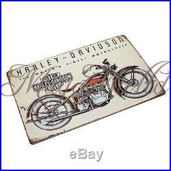 Motorcycle Poster Painting Vintage Retro Metal Tin Sign Pub Bar Wall Decor S