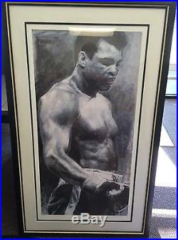 Muhammad Ali Stephen Holland Lithograph Painting, Hand signed #'d 424/1000 JSA