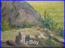 Mystery Artist, Vintage Impressionist IMPRESSIONISM colorist oil painting Signed