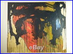 NAKAMURA NONOBJECTIVE ABSTRACT OIL PAINTING VINTAGE MID CENTURY 1969 Signed