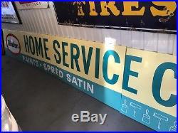 Nos Rare Vintage Glidden Paint 4 Part Porcelain Service Sign 3ft X 20ft