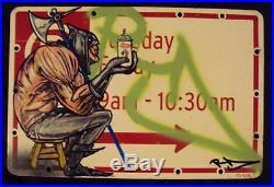 Nyc Graffiti Street Sign Vintage Krylon Spray Paint Executioner Street Art Rd357