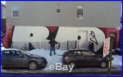 Nyc Graffiti Street Sign Vintage Krylon Spray Paint Fire Hydrant Pump Art Rd357