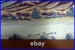 Nelson Pannka Australian Aboriginal Hermannsburg Watercolour Painting