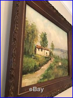 Nice Vintage Oil Painting Signed And Framed