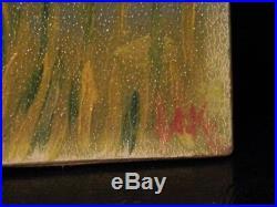 OLD antique Impressionist Fine Art OIL PAINTING vintage Landscape artwork signed