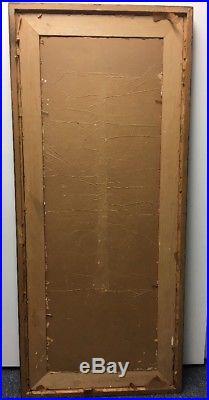 ORIGINAL SIGNED PETER KEIL VINTAGE PAINTING 1967 Naked Female Body 16x48