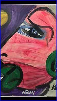 ORIGINAL SIGNED PETER KEIL VINTAGE PAINTING 1992 homeless 24x24