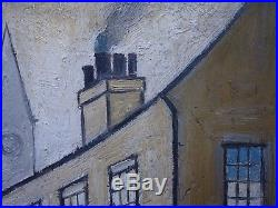 ORIGINAL Vintage Oil Painting Northern School Signed and Dated L S Lowry 1964