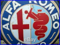 ORIGINAL vintage ALFA ROMEO hand-painted DEALER SIGN late 1950s early 1960's 28