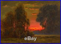 Oil Painting Landscape Original Antique Vintage Impressionist Signed MAX COLE 24