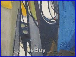 Oil Painting Vintage Abstract Modernism Cubism Cubist Non Objective Mystery
