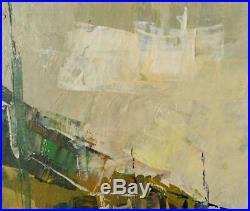 Old Vintage Oil Painting European Landscape MCM Mid Century Modern Expressionist