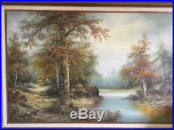 Original C. Inness, Large landscape painting, Clara Inness 1874-1932, Renowned