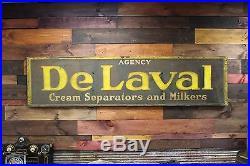 Original DeLaval Tin Smalts Paint Sign -Vintage Farming Dairy etc