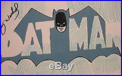 Original, Drawing, Signed Andy Warhol, Batman, comic, 1966, Vintage, Painting, art