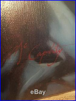 Original Framed Oil Painting on Canvas Madonna and Child Signed