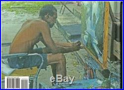 Original Sam Newton FL Highwaymen, Oil/Masonite Signed, Rio Mar Beach 10x7+ Book
