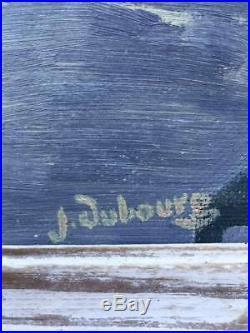 Original VINTAGE FRENCH LANDSCAPE, Provencal Shadows, Signed
