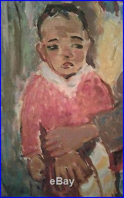 Original Vintage Oil Painting Signed Picasso