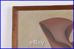 Original Vintage Signed Abstract Mid 20th Century Oil On Canvas