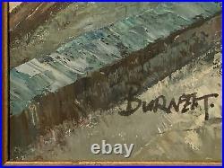 Original Vintage Signed Caroline Burnett Oil Painting Paris Street Scene Framed+