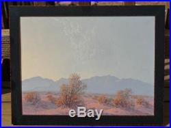Original Vintage Western Art California Desert `sunset Landscape Painting